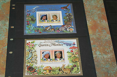 Tuvalu Niui 1985  Queen Mothers 85Th Birthday  M/sheet X 2  Fine M/n/h