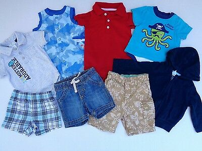 a03501ff6c5f Lot of 8 Baby Gap Old Navy Carter s Shorts Romper Hoodie boy boys size 3 -