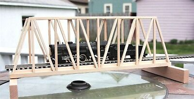 "S Gauge handmade wood thru truss bridge 24"" long for American Flyer etc.."
