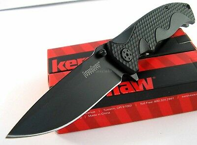 Kershaw 1338 Black Folder Linerlock Flipper Speed Assisted Opening Knife 1338B