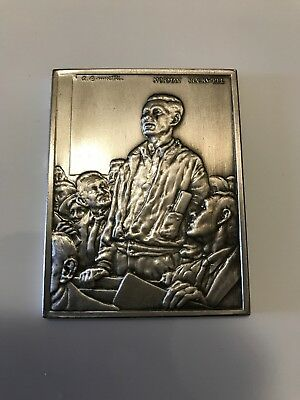 1974 Norman Rockwell Freedom Speech 1000 grains .999 Silver Bar about 2.08 Troy