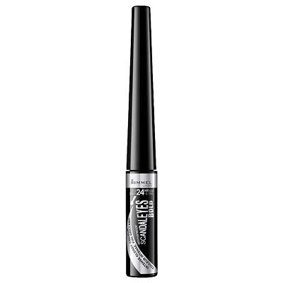 Rimmel SCANDALEYES BOLD LIQUID 24HR WATERPROOF EYELINER -INTENSE GLOSSY BLACK CO