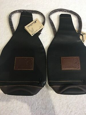 Wine Bottle Bag Faux Leather Luxury Bag Single Bottle Tote Carrier Cover Gift