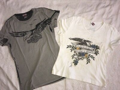 Lot of 2 WOMEN'S~HARLEY DAVIDSON MOTORCYCLE~TOPS~SHIRT~SZ M~SEXY