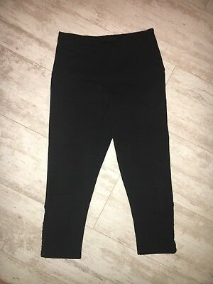 LYSSE Capri Leggings W/tummy Control Black With Hook & Eye Women's Small