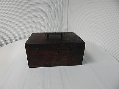 Vintage! Hand Made Cast Iron Handle Cash Box
