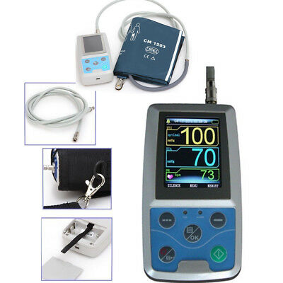 Contec 24 hours Ambulatory Blood Pressure Monitor Holter ABPM Adult Cuff NIBP CE