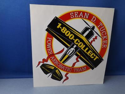 Sean D. Tucker Power Aerobatic Team Sticker Decal Vintage Aviation Air Show