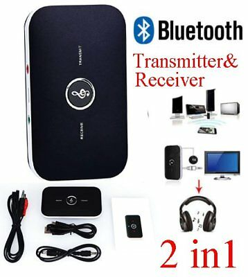 Bluetooth Transmitter & Receiver Wireless A2DP Stereo Audio 3.5mm Aux Adapter