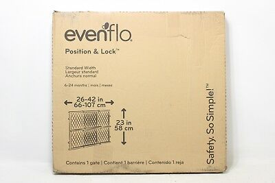 Evenflo Position and Lock Wood Gate  - New Other