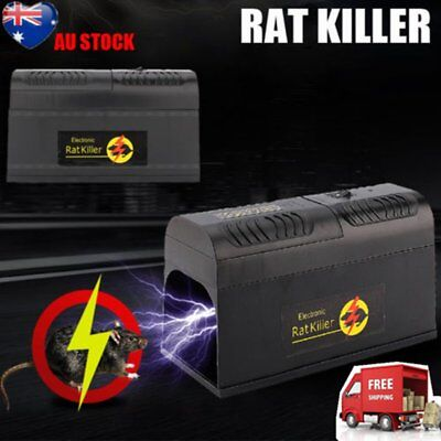 Electronic Mice Rat Killer Rodent Repeller Electric Trap Zapper Pest Control KL