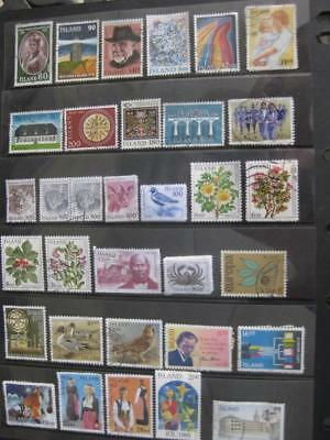 ICELAND.  Nice Selection of Good Used Stamps