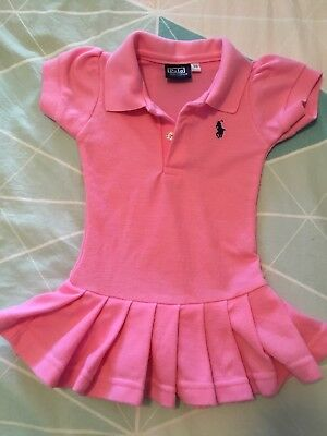 Polo Brand, Pink Polo Style Baby Dress 00/0 size