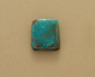 Square Turquoise Cabochon, Turquoise Mountain stabilized turquoise, 18x17x5mm