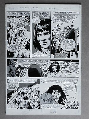 Original Art John Buscema, Savage Sword of Conan # 49 page 13 Feb, 1 1979