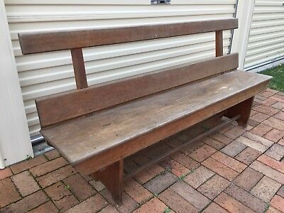 Solid Timber Church Pew Bench Chair 1900mm Long