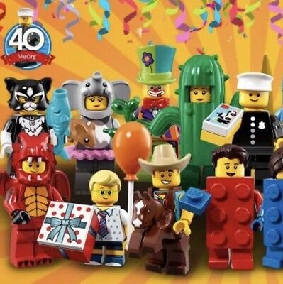 Lego Minifigures Party Series 18 (71021) Complete Set of 17, WITH POLICE Officer