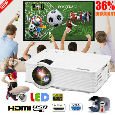 3D Portable LED Projector HD 1080P 7000 Lumens HDMI/USB/SD/AV Home Cinema Video