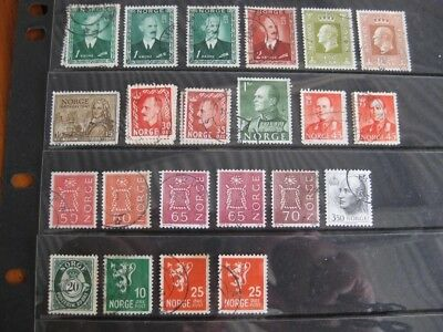 NORWAY - Mixed lot of Good UsedStamps