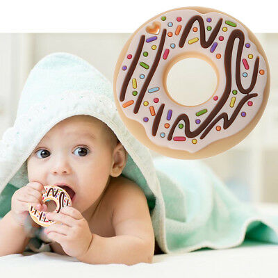 Donut Silicone Teethers Teething Pendant Necklace BPA Free DIY Baby Chew Toy