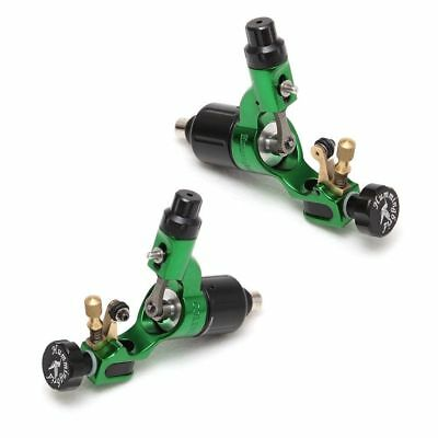 2 X Hummingbird Professional Motor Tattoo Rotary Machine Gun Liner Shader Green