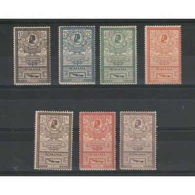1903 Romania Palace Postal Worker - 7 Val Unif N 154-160 Mlh Mf50725