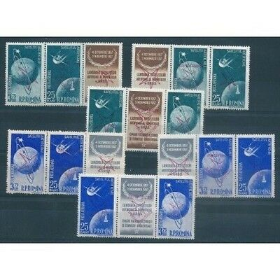 1958 Romania Expo Of Brussels Mail Aerea 12 Values Mnh Sovr Reversed Mf40593