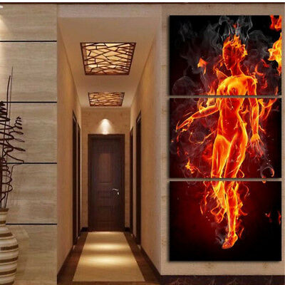 Female Woman Body 3 Panel Canvas Wall Art Modular Decorative  Brand New Buy Now