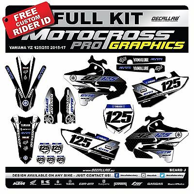 YAMAHA YZ 125 YZF 250 2015 2016 MX Graphics Decals Stickers Decallab