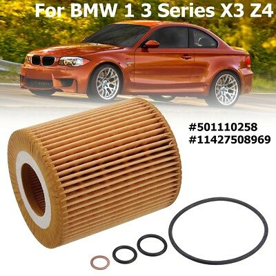 Oil Filter Insert With Gasket For BMW 1 3 Series X3 Z4 120i 118i 116i OE649/6