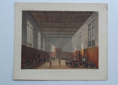 Antique Lithograph School Rugby 1816 Limited Edition Original