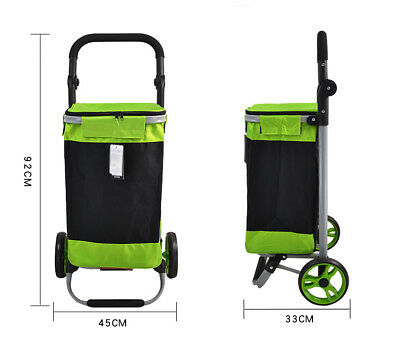 E140 Rugged Aluminium Luggage Trolley Hand Truck Folding Foldable Shopping Cart