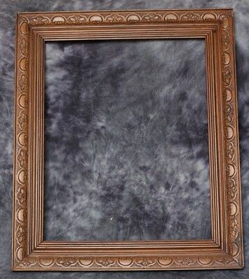 Antique Victorian Wood Frame - 54Cm X 64Cm - Lovely Embossing