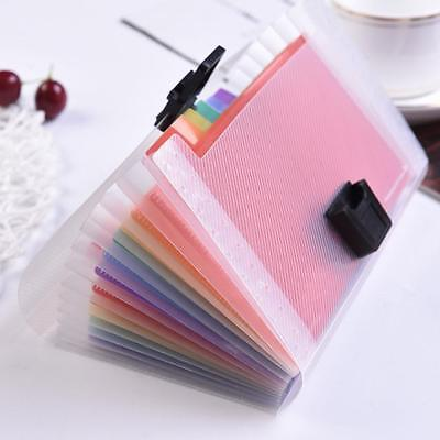 A6 Expanding File Folder Organizer Document Wallet Organizer Bag Rainbow·