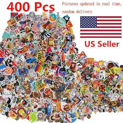 400 PCS Stickers Skateboard Sticker Graffiti Laptop Car Luggage Decals mix lot
