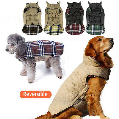 Waterproof Large Dog Jacket Padded Pet Clothes Warm Windbreaker Vest Coat Winter