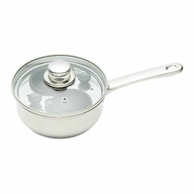 2 Hole Egg Poacher 16cm Stainless Steel Pan (Pack of 2)
