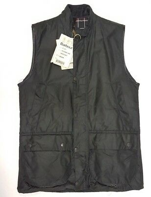 Barbour Westmorland 80's Vintage Waxed Waistcoat Green A220 M New Old Stock