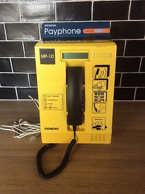 Siemens Mp-10 Indoor Coin-Operated Yellow Telephone Payphone