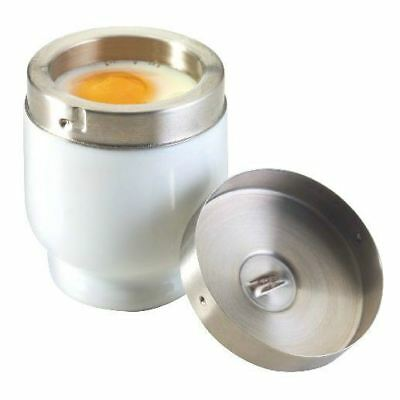 Ceramic Egg Coddler - Porcelain and Stainless Steel (Pack of 6)