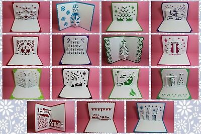Brother ScanNCut Xmas popup insert & card templates CD1107