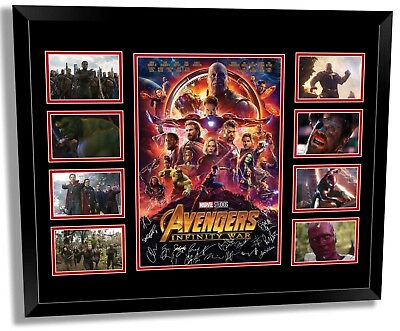 Avengers Infinity War Cast Signed Limited Edition Framed Memorabilia