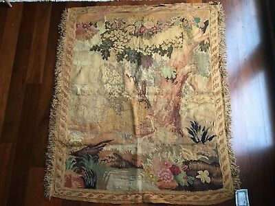 "Antique French Aubusson Tapestry - circa 1850 - 51"" x 63"""