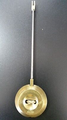 VINTAGE R. A. THIEBLE FRENCH CLOCK PENDULUM BOB with ROD and NUT