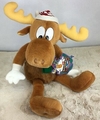 "Macys Bullwinkle and Rocky Ornament 24"" Christmas Collectible Plush 1996"