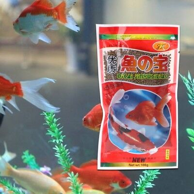 47g Fish Forage Grains Protein Aquarium Food Feeding For Goldfish Tropical Carp