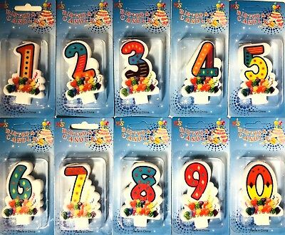 Colourful Decoration  Numbers Happy Birthday Cake Candles Party Occasion 0 To 9