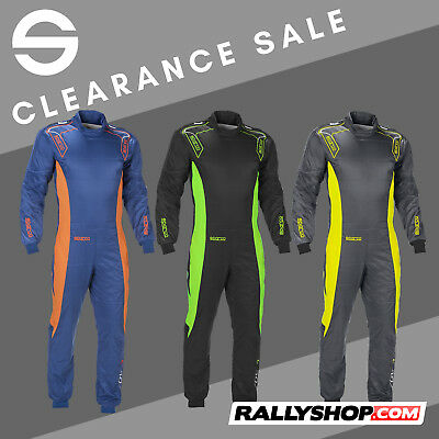 CIK-FIA Sparco Ergo-7 Kart Race Suit BLUE, GREY, BLACK overall CHEAP SALE