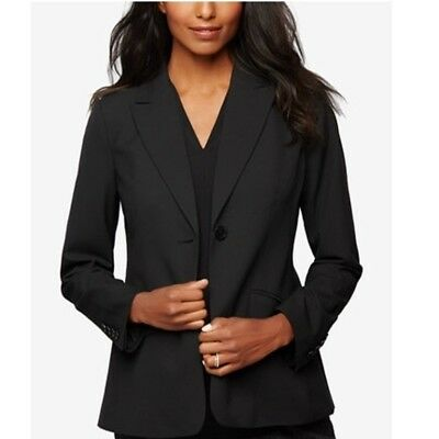$150 A Pea In The Pod Maternity Black Career Fitted Suit Blazer Jacket Small S