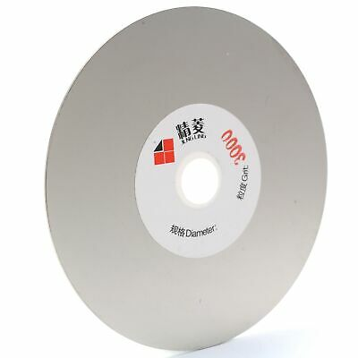 6 inch Diamond Fine Grinding Wheel 3000 Grit Coated Flat Lap Disc Lapidary